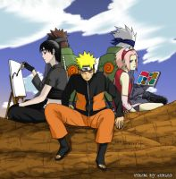 Team 7 made by osy057 colored by UchihaLeader