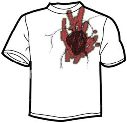 Darker Red Heart Shirt by NoodlePhish