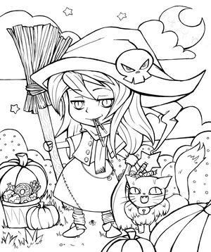 its getting that time of year again so let us celebrate with some colourings - Halloween Coloring Contest 3