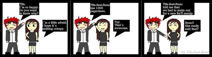 OMG 1000 Pageviews by Tifa-feat-Reno