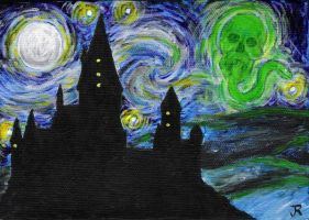 Hogwarts, a dark and starry... by m4g1c4lm3