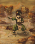 Toph, Afternoon Training by Lin-Ki