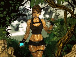 Tomb raider colored . by yagamii