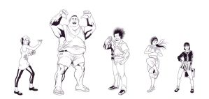 Man Fighting Street Characters by Ralphious