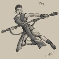 Rey Star Wars by tadamson