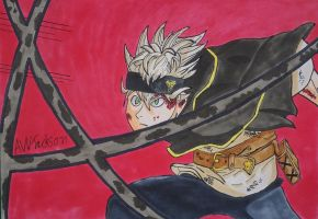 Asta - Speed Drawing by Anime-With-Jackson