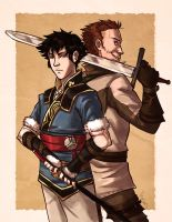 Lon'qu and Gregor by Monkanponk