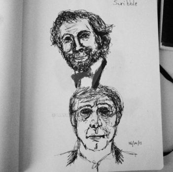 Christoph Waltz - Scribbles by LiaSmile00