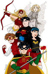 Young Justice by msciuto