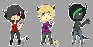Simple Demon Adopts by Fang-Chan13