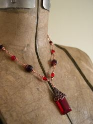 Red Crystal Necklace by ElegantlyEccentric