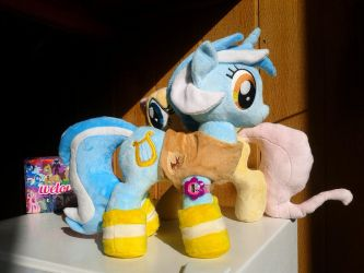 Lyra Heartstrings Plush Winter Wrap-up Vest, Boots by PoNyePiC