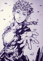 JJBA - Golden Wind (Traditional) by 7Repose