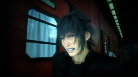 Final Fantasy XV Noctis Angry by SNColors