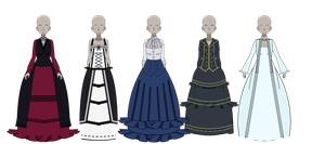 Victorian Dresses [pt 1] by KattoTheBratto