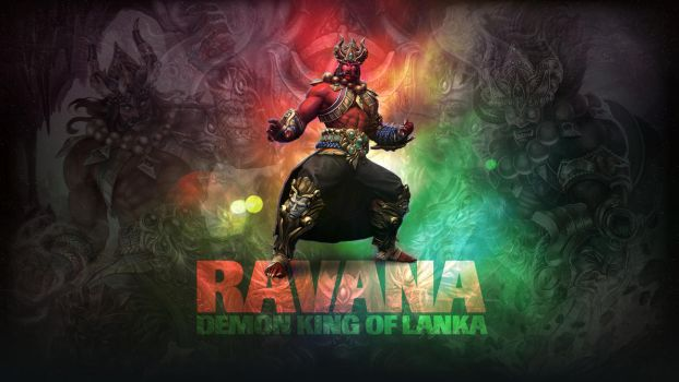 SMITE - Ravana, Demon King of Lanka (Wallpaper) by Getsukeii