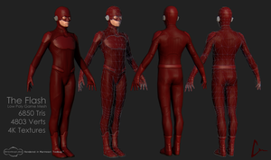 The Flash Low Poly by ninokiboom