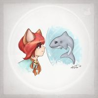 Sur and Shark by Keila-the-fawncat