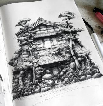 Japanese house by SandraInk