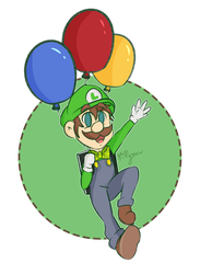 Luigi's balloon world by Millymew