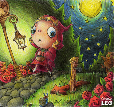 Scary little Red Riding Hood by cristianleo