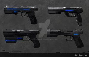 Sci fi - Gun Concept Art by SeanNash