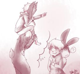 Jack frost and Bunnymund 15 by saeru-bleuts