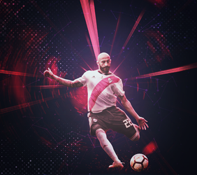 Javier Pinola - River Plate - 2018 by Toxic25