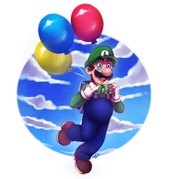 Luigi's Balloon World - Super Mario Odyssey by LC-Holy