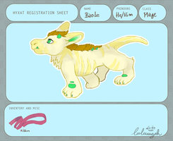 CH / / Baole - Hyxat cub registration by Luluugah
