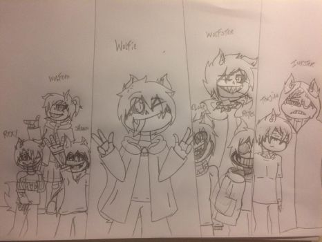 Family Picture by WolfieTheWolfFNAF