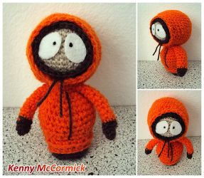 Kenny McCormick, crochet doll by SuspiciousTeacup