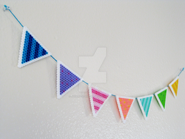 DIY Perler Bunting + TUTORIAL by Sugary-Stardust