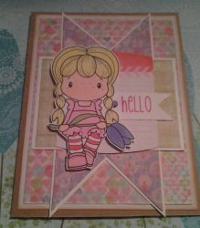 Hello Handmade Card by SeasonablyCute
