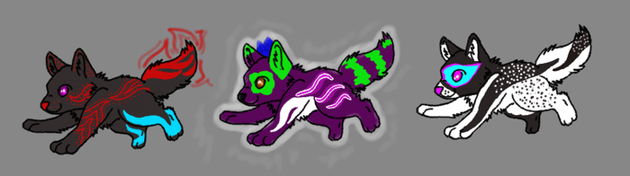 Wolf pups adoptables 2 :OPEN: by Nikita357