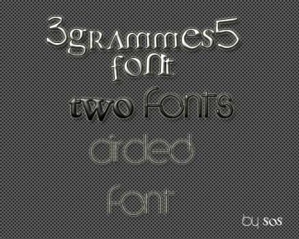 Two fonts by StyleOrShine