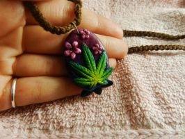 Pot Leaf Flower Pendant by PoisonJARCreations