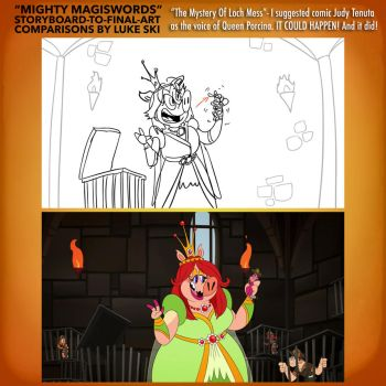 Mighty MagiSwords Storyboards - Judy T as Porcina by artbylukeski