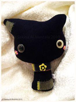 Stitched Kitty plush by ChocoAng3l