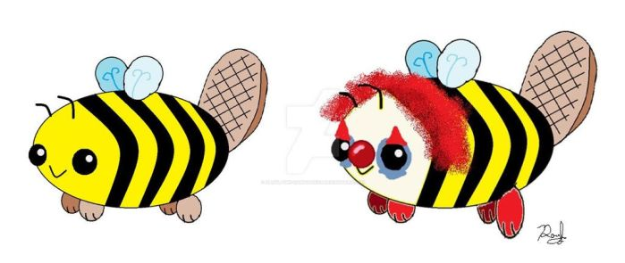 Beever as a Clown by Daryl-the-cartoonist