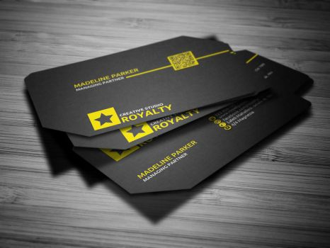 Stylish Corporate Business Card by calwincalwin