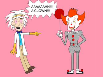 Dr Two Brains meets Pennywise by Toongirl18