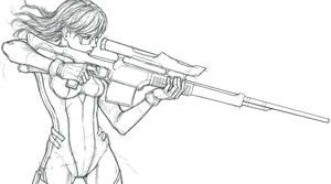 Sniper Sketch WIP by SilverTES