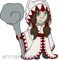 Simple White Mage by armaina