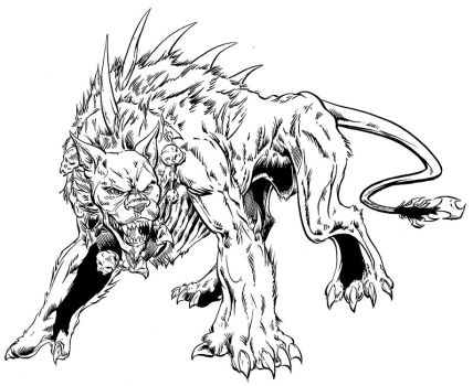 Nefarion inks for Groovus Games: Dungeon Crusade by Cadre