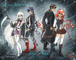 Ao no Exorcist : 2x2 by Lucithea