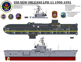 1:350 USS NEW ORLEANS LPH-11 by STEVEN5424