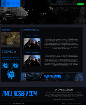 COUNTER-STRIKE BLUE DESIGN by homicide01