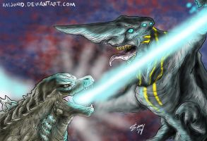 Legendary Goji vs Knifehead by kaijukid