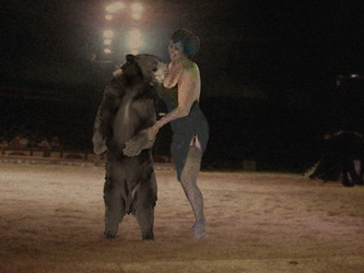 Circus Woman and Bear 01 by PhillipVandamme